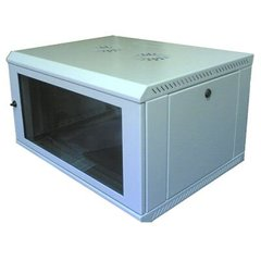 "Cерверна настінна шафа 6U 19"" глибина 450 мм сірий Mepsan Mini Cabinet MC6U6045GS-GR, фото 1"